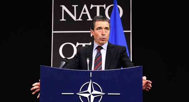 Katibu Mkuu wa Jumuiya ya Kujihami ya Nchi za Magharibi NATO Anders Fogh Rasmussen ambaye anasuburi uamuzi wa UN