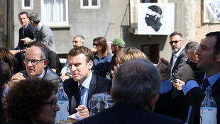 Ông Emmanuel Macron, tại Vescovato, đảo Corse, ngày 07/04/2017, trong chiến dịch vận động tranh cử tổng thống Pháp.
