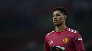 Manchester United's forward Marcus Rashford was the target of online racist abuse