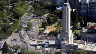 Cérémonie de départ du Dakar à Rosario, le 4 janvier 2013.