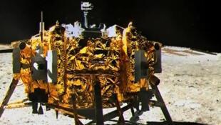 La capsule Chang'E3 après son alunissage.