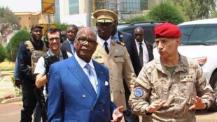 Le président Boubacar Keïta a visité le QG pour condamner l'attaque et remercier le travail de l'EUTM au Mali.