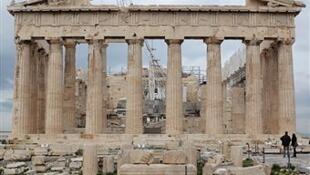 Restauration du Parthénon à Athènes, le 20 février 2012.