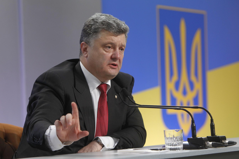 Pour le président ukrainien Petro Porochenko, la livraison d'armes ne fait «aucun doute».