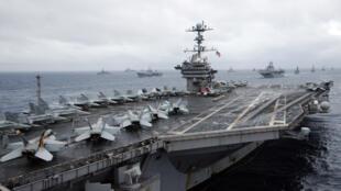 USS George Washington, នាវាផ្ទុកយន្តហោះដ៏ទំនើបរបស់អាមេរិក ដែលទៅធ្វើទស្សនកិច្ចនៅវៀតណាម