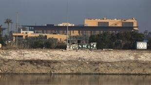 Une vue de l'ambassade américaine à Bagdad (image d'illustration). Trois roquettes «Katioucha» se sont écrasées aux abords des lieux.