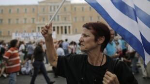 Au moins 16 000 personnes ont manifesté ce 16 juillet 2013 à Athènes, selon la police.