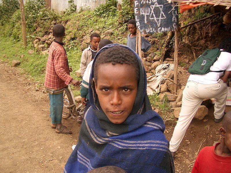 Un jeune Falasha, en Éthiopie.