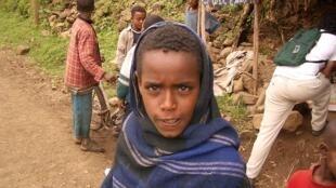 Un jeune Falasha, en Éthiopie en 2005.