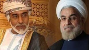 حسن روحانی و سلطان قابوس- پادشاه عمان