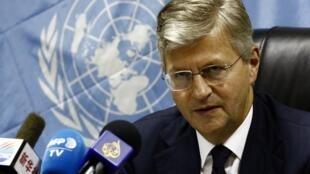 Jean-Pierre Lacroix, secrétaire général adjoint de l'ONU en charge des opérations de maintien de la paix en juillet 2017.