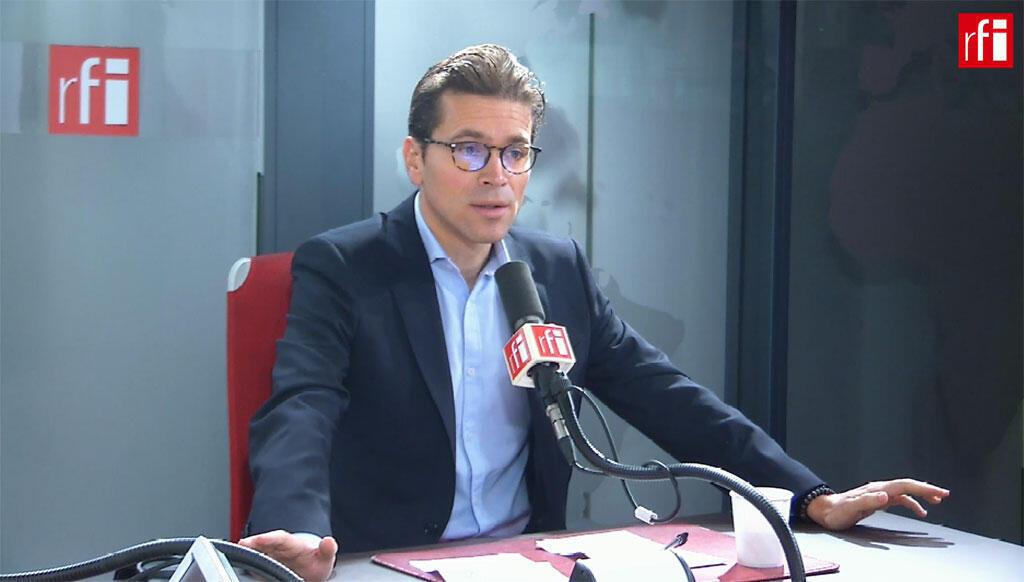 Geoffroy Didier, secrétaire général délégué des Républicains sur RFI, le 14 octobre 2019.