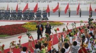O presidente chinês Xi Jinping recebeu seu homólogo brasileiro para encontro dos Brics em 1° de setembro de 2017.