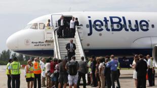 Jirgin Fasinja na  JetBlue ya sauka tashar Santa Clara da Cuba daga Amurka a karon farko