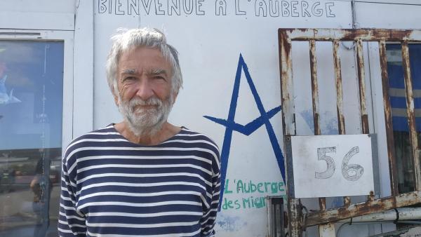 François Guennoc, vice-président de l'association calaisienne venant en aide aux personnes exilés « l'Auberge des migrants ».
