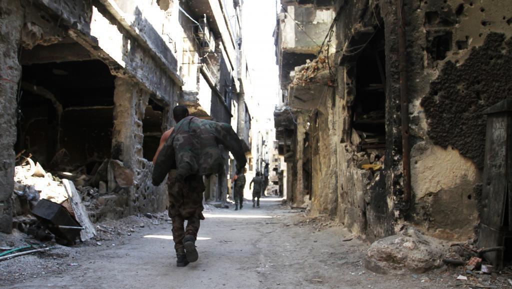 Kambi ya Yarmouk kusini mwa Damascus, kwa sasa inawahifadhi raia 7,000 wa Palestina na Syria.