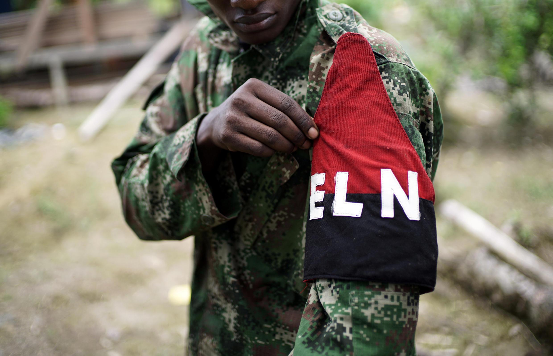Un guérillero de l'ELN, le 31 août 2017.