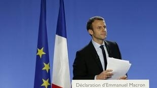 Emmanuel Macron anuncia sua candidatura à presidência em 16 de novembro de 2016