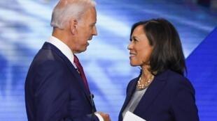Dan takarar shugabancin Amurka karkashin jam'iyyar Democrats Joe Biden da mataimakiyarsa Kamala Harris