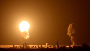 L'aviation israélienne a frappé des cibles à Gaza tandis que des combattants palestiniens ont tiré des roquettes en direction d'Israël, le 16 septembre 2020.