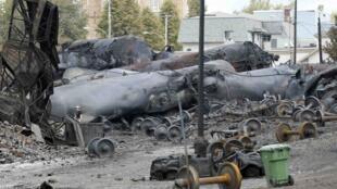 Cảnh sát Canada đang điều tra về vụ tai nạn xe lửa tại Lac-Megantic (Ảnh chụp ngày 09/07/2013)