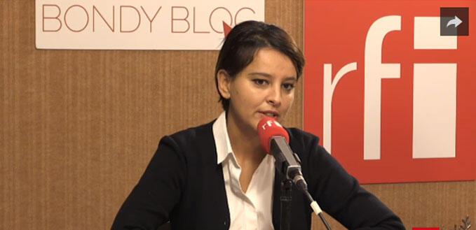 Najat Vallaud-Belkacem, ministre de l'Éducation nationale, de l'Enseignement supérieur et de la Recherche.