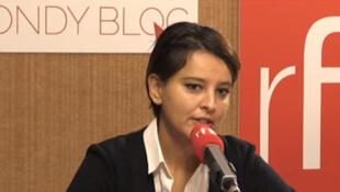 A ministra da Educação francesa Najat Vallaud-Belkacem