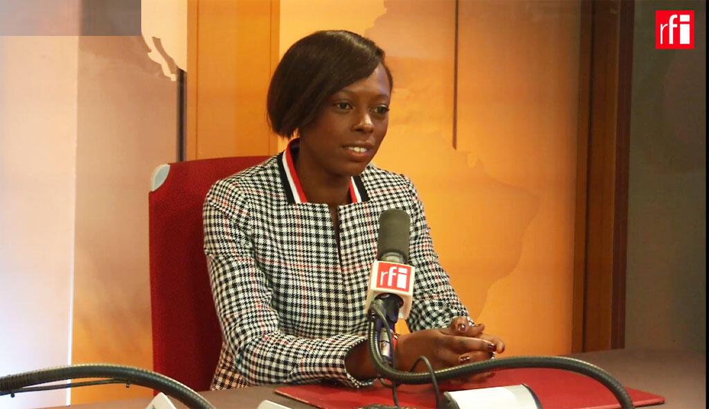 Sira Sylla, députée La République en marche de la Seine-Maritime, dans les studios de RFI, en mai 2020.