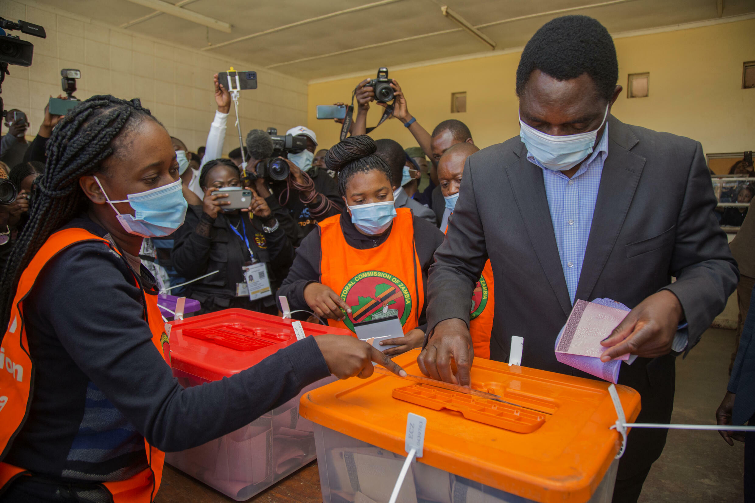 Hakainde Hichilema, who is vying the top job for the sixth time and is backed by an alliance of 10 parties