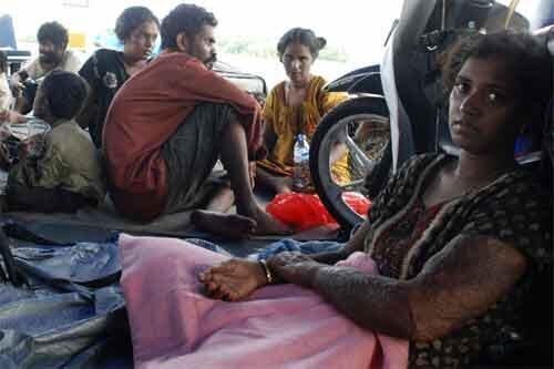 Des réfugiés sri-lankais en route pour Christmas Island.