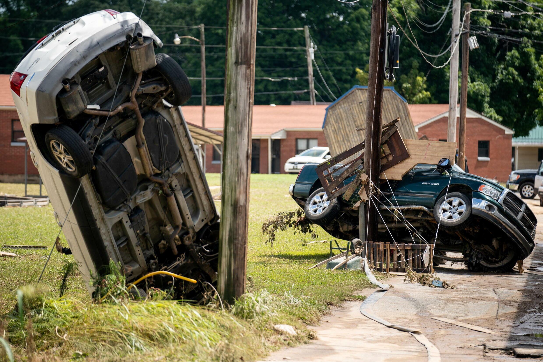 Les dégâts dans la ville de Waverly