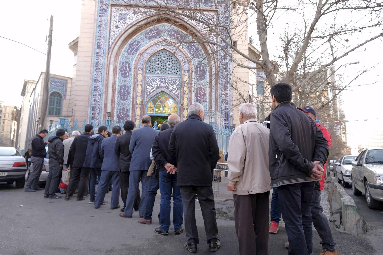 صف رای گیری در تهران
