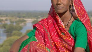Femme indienne de la région du Rajasthan.