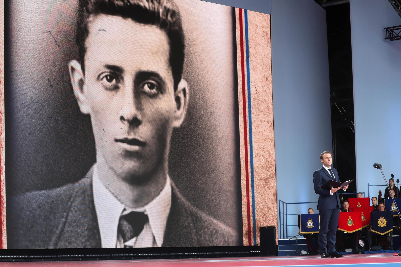 Портрет Анри Ферте на церемонии в Портсмуте 5 июня 2019.