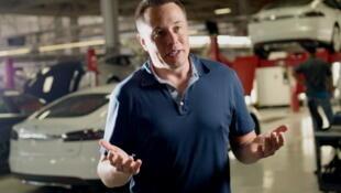 Elon Musk, l'homme qui a imaginé l'Hyperloop.
