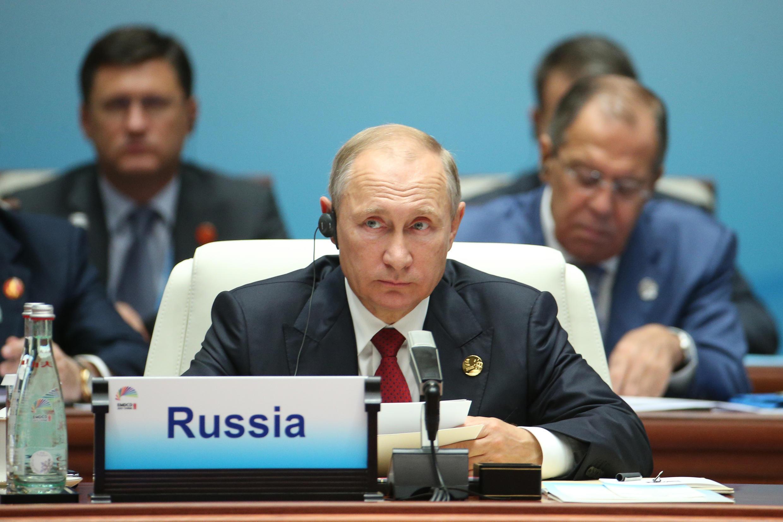 Tổng thống Nga Vladimir Putin tại thượng đỉnh BRICS 2017, Hạ Môn, Trung Quốc, ngày 05/09/2017.