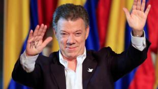 Juan Manuel Santos dedicó el premio a Colombia y a las víctimas del conflicto.