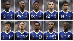Nicolas Anelka, Patrice Evra, Franck Ribery and Jeremy Toulalan all received match bans at a disciplinary hearing.