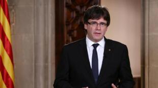 Le président séparatiste de la Catalogne, Carles Puigdemont.