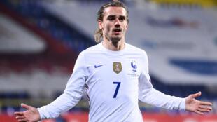 Antoine Griezmann scored France's winner against Bosnia-Herzegovina in their 2022 World Cup qualifier.