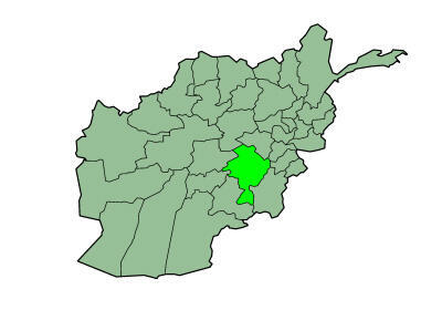 """موقعیت جغرافیایی ولایت """"غزنی"""" بر روی نقشه افغانستان"""
