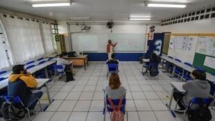 Des lycéens dans l'États de São Paulo