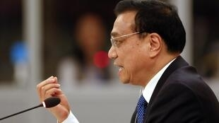 Thủ tướng Trung Quốc Lý Khắc Cường phát biểu tại Hội nghị Đông Á, Naypyidaw, Miến Điện. Ảnh ngày 13/11/2014.
