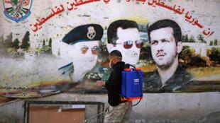 Syrie Damas Camp Palestinien Coronavirus