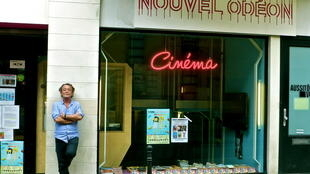 Séamas McSwiney outside Le Nouvel Odéon, host of Paris is Cinema