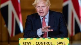 Le Premier ministre britannique, Boris Johnson au 10 Downing Street, le 25 mai 2020.