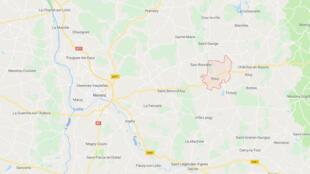 Rouy est une commune française située dans le département de la Nièvre, en région Bourgogne-Franche-Comté. (Capture d'écran de Google Maps).