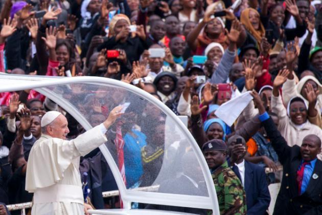 Papa Francis mjini Nairobi Novemba 26, 2015.