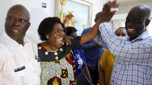 Simone Gbagbo, le 15 janvier 2019 à Abidjan après l'acquittement de son mari à la CPI.