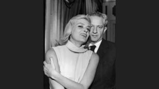 Melina Mercouri avec le réalisateur Jules Dassin, en 1966.